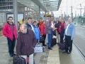 Ankunft am Hauptbahnhof in Dresden.