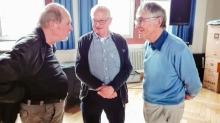 Schön, dass auch viele unserer ehemaligen Lehrer da waren (v. l. Herr Plucinski, Herr Kionke, Herr Leder)