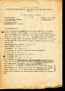 Rundbrief 1970/01 Titelseite