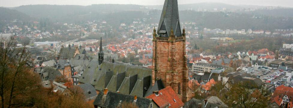 Die lutherische Pfarrkirche in Marburg