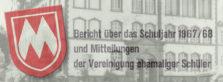 Jahrbuch von 1968 vor Schule
